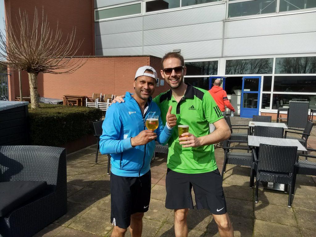 TennisLeren.nl - David Lloyd toernooi 8 april - Ronald Sampat en Martijn Pardoel
